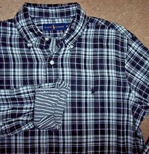 NWT Ralph Lauren $125 BLACK/WHITE Plaid/Striped Lining Shirt XXL 2XL Double-Face