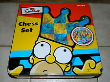 Simpsons Schach Set - Chess Set - Cardinal - in Metall Box - komplett - Rarität