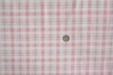 Pink Check With Blue Stripe Fabric FQ 50x56 Cm 2478-15 100 Cotton