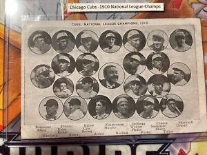 1910 CHICAGO CUBS National League CHAMPIONS ORIGINAL TEAM PHOTO POST CARD RARE