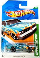 Hot Wheels 2011 Treasure Hunt '64 Pontiac GTO Blue 7/15 57/244 Metal Base VHTF