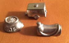 3 Horseopoly Tokens: Oats, Saddle and Camper