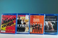 Reservoir Dogs, Hot Fuzz, The Usual Suspects, Apollo 13 Blu-Ray movies lot