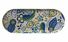 Brighton Metal Tin Box Sunglass Eyeglass Case Blue Green Floral