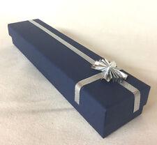 5 x Bracelet Presentation Boxes Jewellery Display Navy/Silver