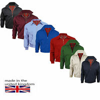 MEN'S CLASSIC HARRINGTON FULLY MANUFACTURED IN THE UK 1970'S RETRO BOMBER JACKET