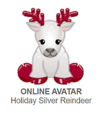 Webkinz Classic Holiday Silver Reindeer *Code Only*
