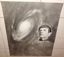 "Star Trek ""Mr. SPOCK"" Leonard Nimoy 1986 Kabrin Poster/Print  Vulcan Rare Nice"