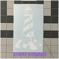 Lighthouse Number 2 White Vinyl Window Decal Sticker You Pick Color