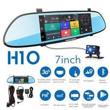 """7"""" 1080P HD Android auto DVR GPS lente doppia SPECCHIETTO RETROVISORE TELECAMERA Dash cam WIFI"""