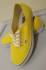 Vans Off the Wall Sneakers, Yellow, Unisex, Size 7 .5 men women 9