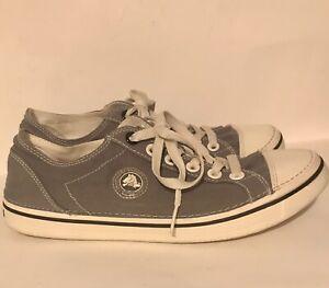 Crocs Hover Canvas Sneakers Cap Toe Women's Size 10 Gray White