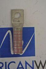 BURNDY PINK  1 Hole Compression Lug 1/0 AWG  348 or 12  YA25 NEW