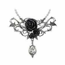 Stunning Alchemy Gothic Pewter ~ Bacchanal Rose ~ Pendant Necklace