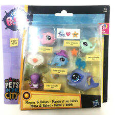 Littlest Pet Shop Animal O'Dolphin Family Mommy & Babies Hasbro Figure Cute Toy