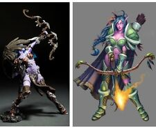 WOW WARCRAFT NIGHT ELF HUNTER ALATHENA MOONBREEZE SORNA ACTION FIGURE STATUE TOY