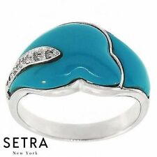 & Right Hand 14k Gold Ring Available In Stock Everlasting Turquoise & Diamond