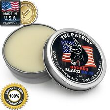 Badass Beard Care Balm for Men the Patriot Scent Promote Healthy Growth 2 Oz NEW