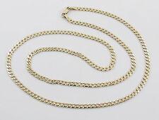 "14K Yellow Gold  Men's Cuban Chain Necklace 22""  7.7 grams"
