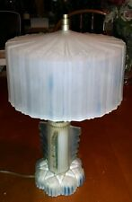 Art Deco Frosted Glass Lamp, Very Retro, Mid Century Glass Shade, Very Cool!