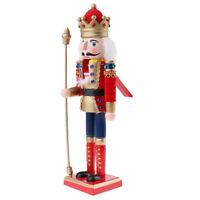 Retro 30cm Fluffy Nutcracker Soldier Figures Figurine Puppet Doll Home Decor