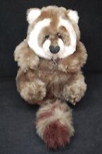 "Raccoon Brown White Soft Cuddly Plush 8"" Sitting A N C Toy Lovey"