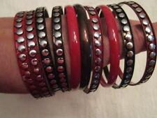 Armreif 10 Stück Rot Kupfer silber Metall