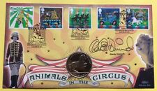 9.4.2002 Circus FDC Signed CHARLIE DIMMOCK, 1994 Bosnia Coin Stallion Lippizaner