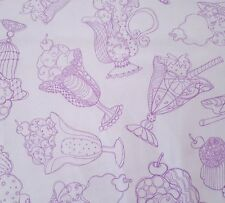 Sweetie by Loralie Harris QT BTY Purple Tossed Treats Ice Cream Sundaes on White