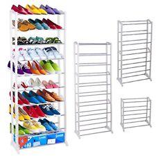 30 Pairs Shoe Storage Rack Organiser Shelf Stand Storage White Standing Unit
