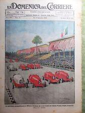 La Domenica del Corriere 17 Settembre 1922 Russia Caduti Automobilismo Albertini