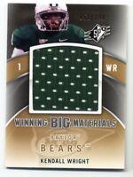 2012 Upper Deck SPx KENDALL WRIGHT SP Big HUGE GAME JERSEY #/199 Baylor Bears SP
