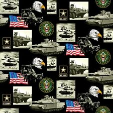 US ARMY COTTON FABRIC-ARMY QUILTING FABRIC-100% COTTON-ARMY COTTON SOLD BY YARD