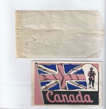 (1) Canadian Flag Mountie 1940's Travel Decal Sticker. Turner Sticker Post Card.