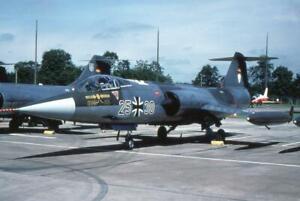 35mm Aircraft Slide German AF 2530 F-104G Starfighter LVSR-1 Fairford 1985