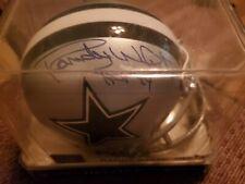 RANDY WHITE signed Dallas Cowboys mini w/ Tristar cert., HOF 94 Inscription