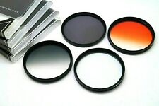 67mm Graduated Orange, Grey, 4 Star, ND4 For Nikon Canon Sony Tamron & Others