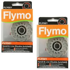 2 x Genuine Flymo Contour 500 XT Double Autofeed Strimmer Trimmer Spool & Line