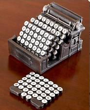 Coaster Set Office Desk Decorations Accessories Typewriter Design Unique Gift