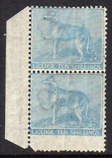 Ireland 1865 Dog License 10/- (B2) in a MNH pair