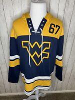 West Virginia WVU Mountaineers Champion Brand Hoodie Sweatshirt Mens Size Large