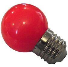 NEW LED 1 RED 1 WATT BROODER LIGHT ATTRACTION BULB FOR BABY CHICKS QUAIL DUCK