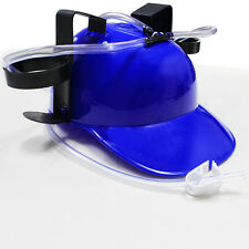 Cool Unique Party Game Beer Soda Dual Can Straw Drinking Hard Hat Helmet Fun