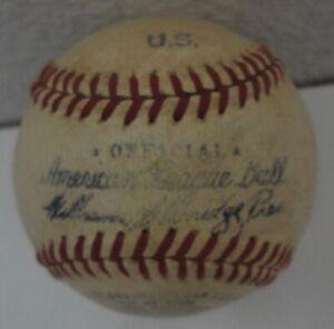 Vtg USMC Camp Lajeune Official American League Baseball 1949 Marked U.S.