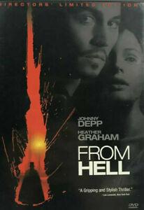 From Hell DVD Johnny Depp Movie - JACK THE RIPPER HORROR FILM - REGION 1 USA
