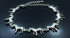 Horse Lovers Adorable Antique Silver Plated Adjustable Anklet