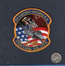 F-16 FIGHTING FALCON 2000 HOURS USAF EFS EF TFS Fighter Squadron Crew Patch