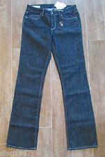 "28 "" J & Company 8 Beverly Womens Jeans denim $158 metallic silver thread boot"