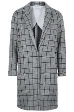 Topshop Mini Check Print Jersey Coat  Size 6