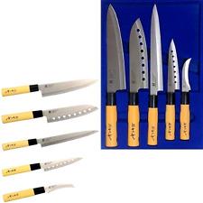 (GOLDSUN) Sashimi Kitchen Knife Set Stainless steel Cutlery Japanese Chef Knives